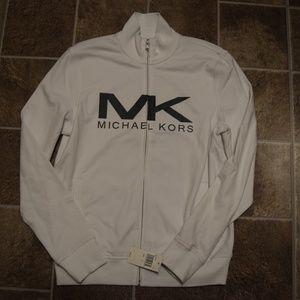 Micheal Kors Men's White Zip Up Jacket